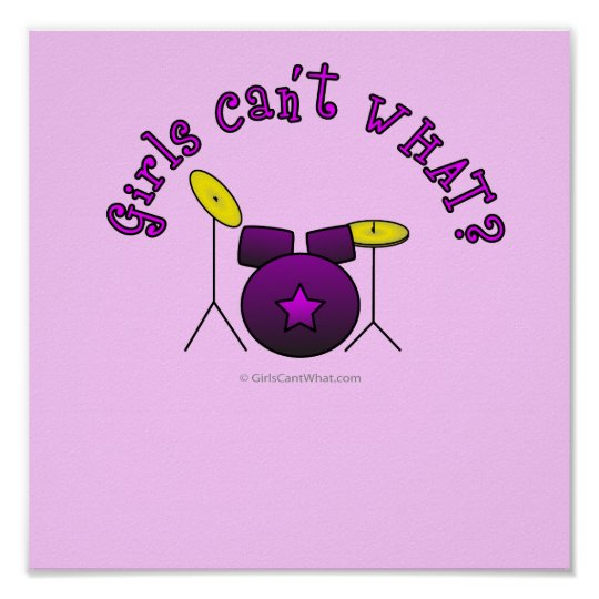 Drum Set - Purple Poster