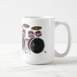 Drum Set (red) - Double Kick - Coffee Mug