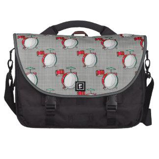 Drum Set Red Drums Laptop Messenger Bag
