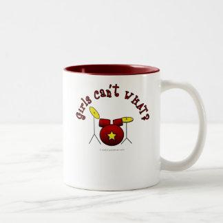 Drum Set - Red Two-Tone Coffee Mug