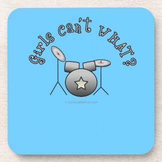 Drum Set - Silver Drink Coaster