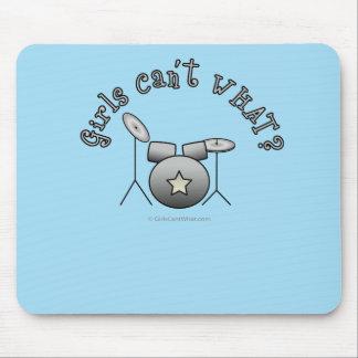 Drum Set - Silver Mouse Pad