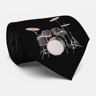 Drum Set with Cymbals Necktie