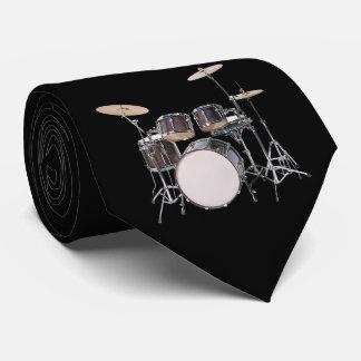 Drum Set with Cymbals Necktie