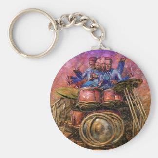 Drum Solo Basic Round Button Keychain
