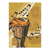 Drum Sound Invitations