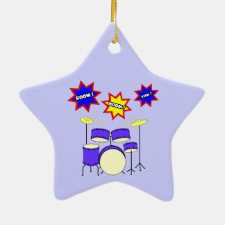 Drum Sounds Ceramic Ornament
