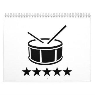Drum stars calendar