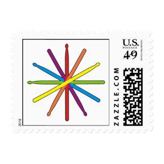 Drum Stick Color Star Stamp