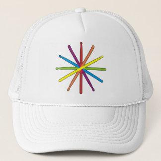 Drum Stick Color Star Trucker Hat