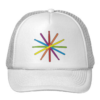 Drum Stick Color Star Trucker Hat