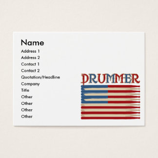 Drum Stick USA Flag Drummer Tees and Gifts Business Card