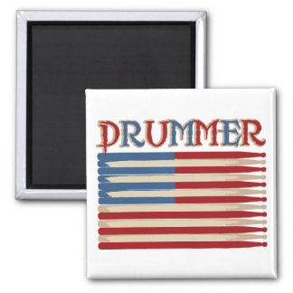 Drum Stick USA Flag Drummer Tees and Gifts Magnet