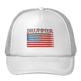 Drum Stick USA Flag Drummer Tees and Gifts Trucker Hat