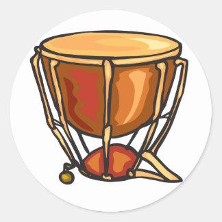 Drum Stickers Round Sticker