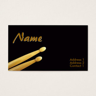 Drum Sticks Business Cards