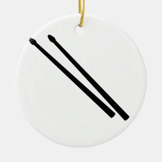 Drum Sticks Ceramic Ornament