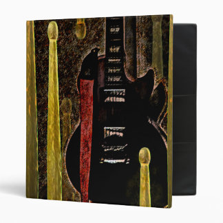 Drum Sticks & Guitar Graphic Art on Binder