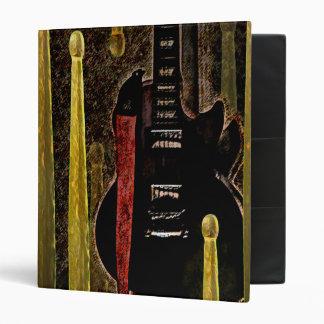 Drum Sticks & Guitar Graphic Art on Binder