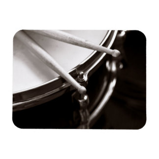 Drum Sticks on Snare Black and White Magnet
