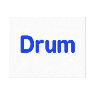 drum text blue music design canvas print