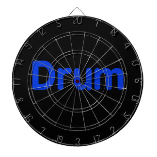 drum text blue music design dart board