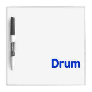 drum text blue music design Dry-Erase board