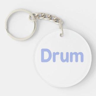 drum text cornflower music design acrylic key chains