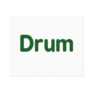 drum text green music design canvas print