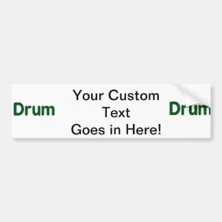 drum text green music design car bumper sticker