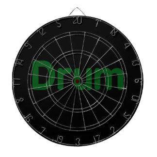 drum text green music design dart board