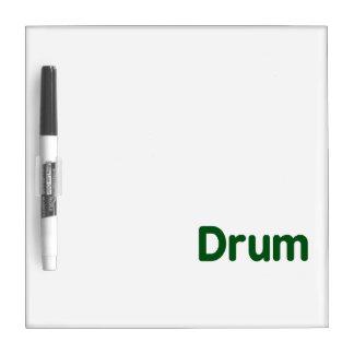drum text green music design Dry-Erase board