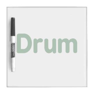 drum text green music design dry erase board