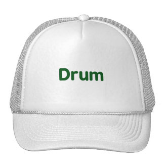 drum text green music design trucker hats