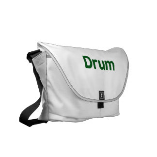 drum text green music design courier bags