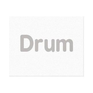 drum text grey music design canvas print