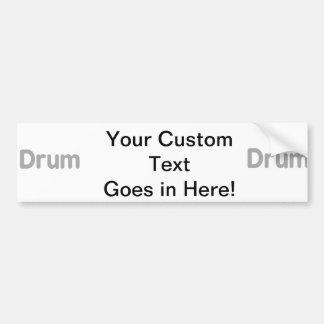 drum text grey music design car bumper sticker