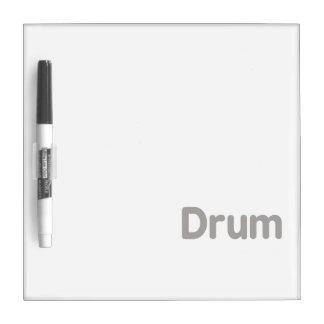 drum text grey music design dry erase board