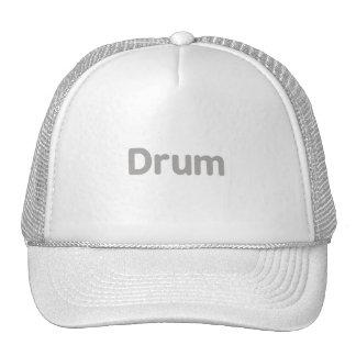 drum text grey music design hats