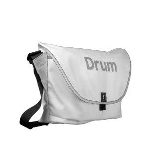 drum text grey music design messenger bags