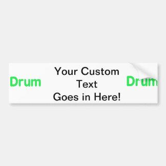 drum text mint music design car bumper sticker