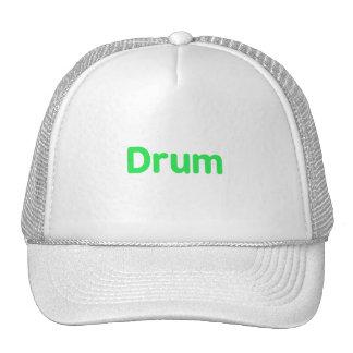 drum text mint music design hats