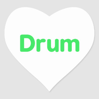 drum text mint music design heart sticker
