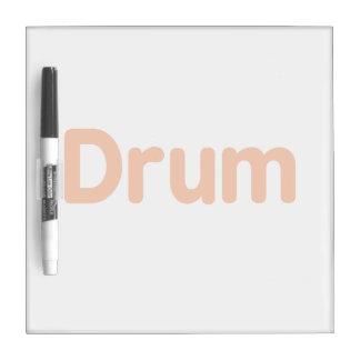 drum text orange music design Dry-Erase board