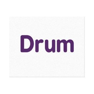 drum text purple music design canvas print