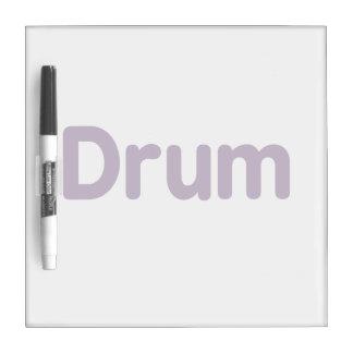 drum text purple music design Dry-Erase board