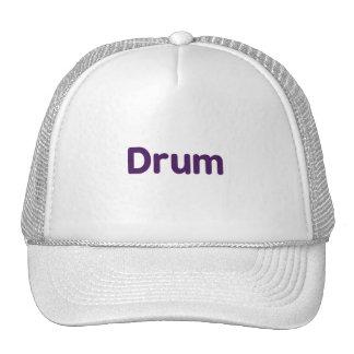 drum text purple music design trucker hats