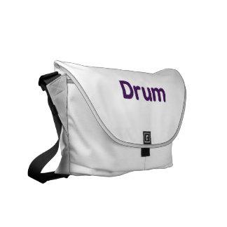 drum text purple music design courier bag