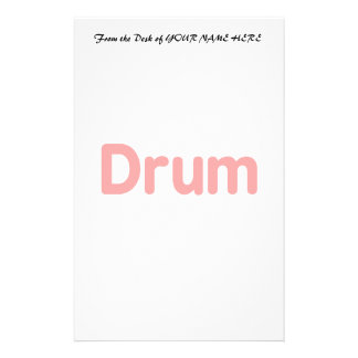 drum text red music design stationery