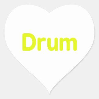 drum text yellow music design heart sticker